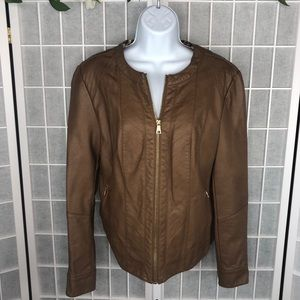 Charter Club Faux Leather Moto Jacket